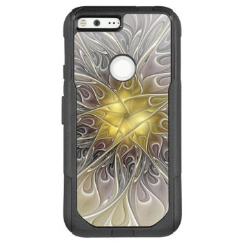 Flourish With Gold Modern Abstract Fractal Flower OtterBox Commuter Google Pixel XL Case