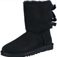 UGG Australia Women's Bailey Bow Black Sheepskin Boot 6 M US