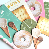 snack food sticky note donuts ice cream Saltine cracker green tea cookie doughnuts sticky memo cute food snack food paper memo cool decor