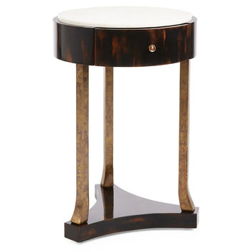 Artistica, Modern French Crystal Side Table, White, Standard Side Tables