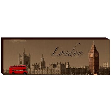 The London Scene Canvas Wall Art (1129) - Illuminada