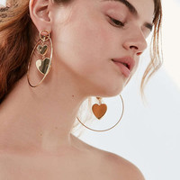 Rae 3D Statement Hoop Earring | Urban Outfitters