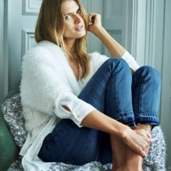 Knitted & Knotted Faux-Fur Cardigan