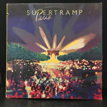 5 DAY SALE (Ends Soon) Vintage 1980 Supertramp Paris Vinyl Record Good Condition