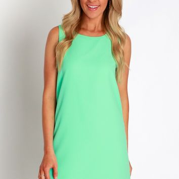 Sweet Simplicity Shift Dress Mint