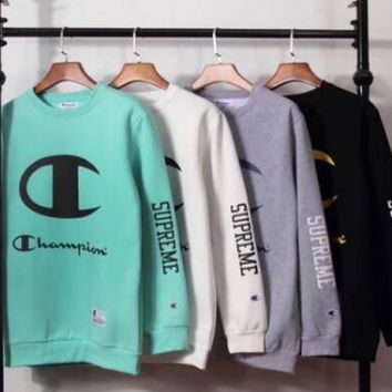 Supreme x Champion Fashion Print Top Sweater Pullover