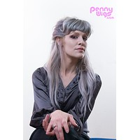 Silver Clip-In Bangs