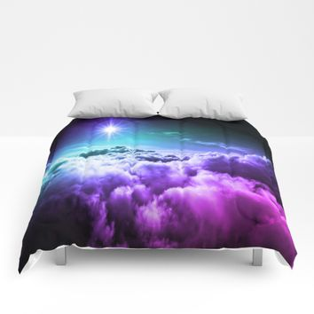 Cool Tone Ombre Clouds Comforters by 2sweet4words Designs