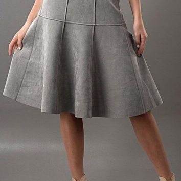 Trend Notes Suede Flare Skirt