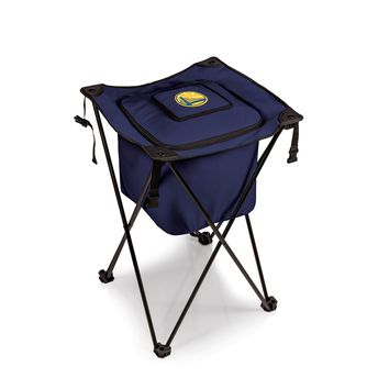 Golden State Warriors - 'Sidekick' Portable Standing Beverage Cooler by Picnic Time (Navy)