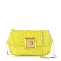 Versace Designer Handbags Acacia Micro Vanitas Leather Clutch