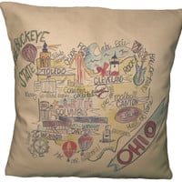 Southern Apparel and Serendipity Roadmap Pillow Ohio