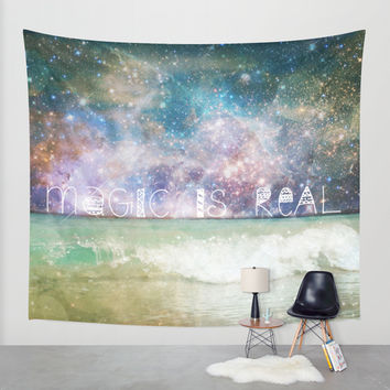 Magic Is Real II Wall Tapestry by Jenndalyn