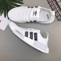 Adidas NMD R1 3M Reflective shoelace Fashion Trending Running Sports Shoes NMD RUNNER PK Color Black&White