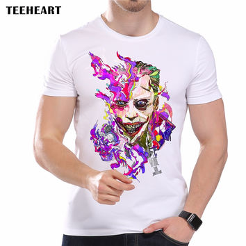 New Men's Color Punk Retro Portrait Printed Designer T-Shirt Summer Creative Pattern Top Tees
