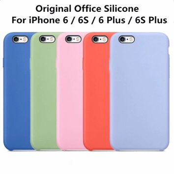 RHOADA Original Liquid silicone with Soft Microfiber Cloth Lining Cushion Coque Case For iPhone 6 6s Cover For iPhone 6 6s Plus
