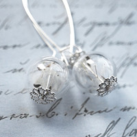 Real Dandelion Earrings Make A Wish by NaturalPrettyThings on Etsy