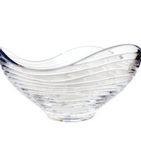 Villeroy and Boch Crystal Bowl, Wave, Heavy Cut Crystal, Collectible