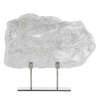Selenite Slab On Stand | Ventura Sequoia White Sand Living Room Inspiration | Living Room | Inspiration | Z Gallerie