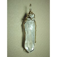Quartz Crystal Pendant Wire Wrapped 14k/20 Gold Filled