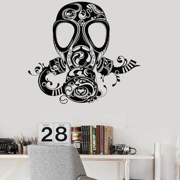 Vinyl Wall Decal Gas Mask Teen Room Kids Boy Pattern Stickers Unique Gift (ig2933)