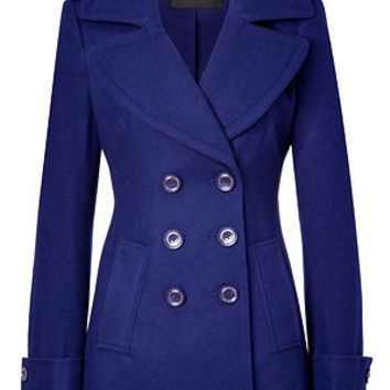 Rachel Zoe - Royal Blue Wool-Blend Fay Pea Coat