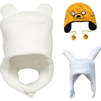 Adventure Finn Jake / Fionna Soft Plush Hat Cap Cartoon Movie & TV Cosplay hat Winter Warm cap fit for Adult & Children Beanies