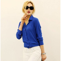 Business Style Long Sleeve Top