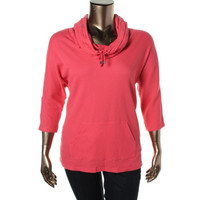 Style & Co. Womens Thermal Batwing Pullover Sweater