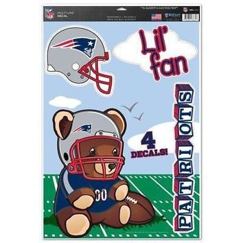 "Licensed New England Patriots Official NFL 11""x17"" MultiUse Car Decal by Wincraft 276025 KO_19_1"