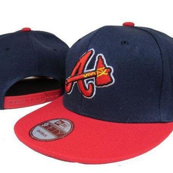 ICIKBE6 Atlanta Braves New Era MLB 9FIFTY Hat Blue-Red