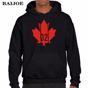 BAIJOE Autumn Winter Mens Hoodies Vintage Canada D2 DSQ Hoodie Sweatshirt Men Hip Hop Hooded Pullover Hombre Clothing M-XXL