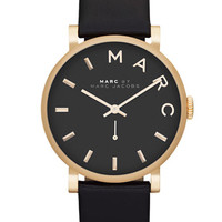Marc By Marc Jacobs Ladies Baker Gold Tone and Leather Watch