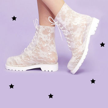 candy lace rain boot from Kokopie