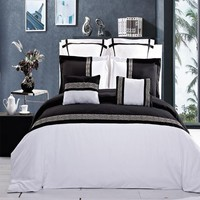 Astrid Embroidered Navy and White Multi Piece Comforter Set