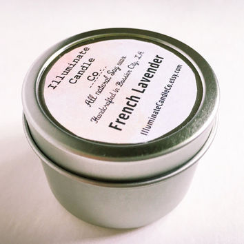 French Lavender Soy Wax Candle   Essential oil Candles  Soy Candle Soy candles hand poured