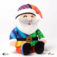 Enesco Romero Britto Mini Santa Plush New 4027878