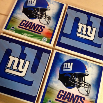 NY Giants Coasters, Giants Coasters, New York Giants, Fathers Day, Sports Coasters, Man Cave, home decor, Office Decor, Tile Coaster, Giants