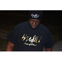 T-Shirt - Navy Hustle State of Mind