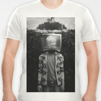 This TV haze sucks me through. I watch the world from the inside T-shirt by James Docherty | Society6