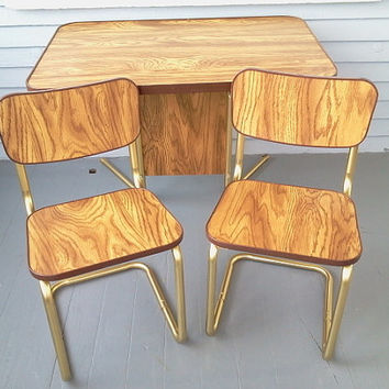 Vintage, Childrens Table and Chairs