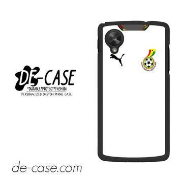 Ghana Soccer Jersey For Google Nexus 5 Case Phone Case Gift Present YO