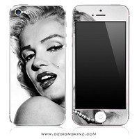 Marilyn Monroe Skin for iPhone 3G/3GS, 4/4s, 5, Samsung Galaxy S2, S3, iPod Touch 4th Gen or 5th Gen