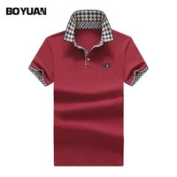 BOYUAN Brand Men Polo Shirt Solid Breathable Cotton Polo Shirts  2017 Summer Polo Shirt Men Polos Hombre Manga Corta Marca 2399