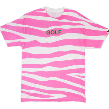 GOLF TIGER STRIPE TEE PINK – golfwang