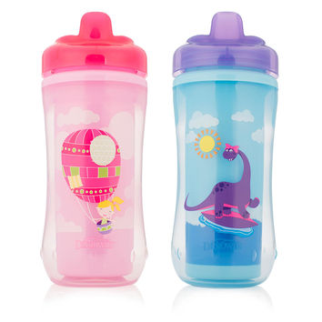 Dr Brown's 2 Pack 10 Ounce Hard Spout Transition Cup - Girl