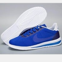 NIKE Cortez Forrest gump lovers shoes running shoes running shoes sapphire blue-white H-MDTY-SHINING