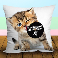 Kitten Eating CD 5 seconds of summer 5SOS - Pillow Case, Square and Rectangle One Side/Two Side.