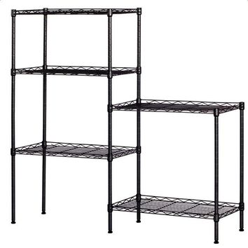 Changeable Assembly Floor Standing Carbon Steel Storage Rack Black