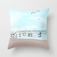 the gathering Throw Pillow by sylviacookphotography
